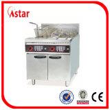 Freidoras eléctricas hechas en China, 1 tanque 2 cestas de pescado comercial Fryer Supplier