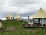 Grandes tiendas de campaña para eventos Solar Power Diseño personalizado Glamping Gazebo Tents