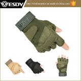 Colore di riciclaggio del nero dei guanti della Metà-Barretta di Airsoft di guida Fingerless tattica di caccia