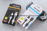 Normal cable USB Negro o Blanco Color de 5V 2A para todo el teléfono elegante con 2 en 1 inserte el tapón