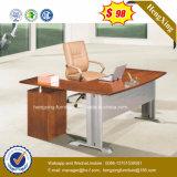 Preço inferior L tabela do escritório de gerente da melamina da forma (HX-5118)