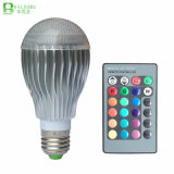 lampe à télécommande d'ampoule de l'éclairage IR DEL RVB de 10W RVB