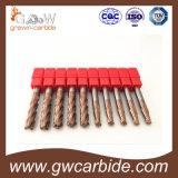 Cortador do moinho de extremidade do carboneto do sólido de HRC 55