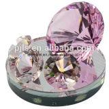 40mm kleiner gelber Kristallglas-Diamant für Dekoration