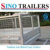 Remorque galvanisée boulonnée tandem du cadre 10*6 avec la cage