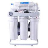 Système d'osmose d'inversion avec l'indicateur en acier d'étagère et de pression