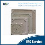 Plaque automatique de filtre-presse de chambre de haute performance
