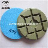 Almofada de polonês seca do diamante do tufão para o assoalho concreto