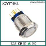 Alta calidad Ce Electric LED anillo de metal pulsador