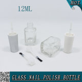 [12مل] لطيفة مربّعة زجاجيّة مسمار عمليّة صقل زجاجة مع بلاستيكيّة غطاء وفرشاة