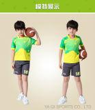 La chemise en gros de rugby d'OEM d'uniformes du football conçoivent l'équipe sublimée du Jersey du football réglée pour des gosses
