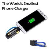 De kleinste Lader van de Wereld voor Behoefte van het Gebruik van de Noodsituatie van de Telefoon de Draagbare enkel 1 Paar Gemakkelijke Batterijen van aa draagt Sleutelring voor Androïde