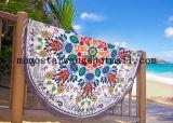 Algodón al por mayor impreso alrededor de la toalla de playa del círculo con de alta calidad