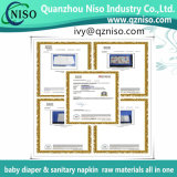 Nonwoven hidrofílico de SSS Spunbond para las materias primas de Topsheet del pañal del bebé