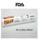 Le PE s'attachent film de emballage en plastique de film d'extension de PE de catégorie comestible de matériaux d'emballage de film pour la palette, vaisselle
