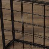 Armazenamento de piso com grade empilhável Garrafa de metal Display Wine Rack