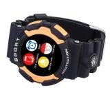 Nr 1 A10 3-bewijs de Pedometer van Smartwatch van het Tarief van het Hart van Bluetooth van Sporten LCD van 1.2 Duim Blauwe Kleur van het Horloge van de Weervoorspelling van het Alarm van de Steun van het Scherm De Slimme