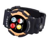 No. 1 A10 3 증거 스포츠 Bluetooth 심박수 Smartwatch 보수계 1.2 인치 LCD 스크린 지원 경보 일기 예보 지능적인 시계 파랑 색깔