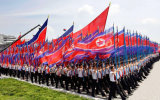 Kundenspezifisch imprägniern und Sunproof Staatsflagge-Nordkorea-Staatsflagge-Modell Nr.: NF-030