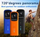 Práctico cámara 720 grados de vistas panorámicas del deporte de HD