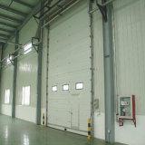 Porte commerciale supplémentaire sectionnelle isolée d'acier inoxydable