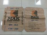 Bolso de papel de gama alta del cemento del bolso de encargo del cemento de la fábrica para 25kg 50kg