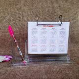 Стойка календара стола пластическая масса на основе акриловых смол с держателем пер