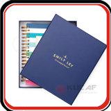 Kundenspezifischer Deckel-Organisator-Planer des Geschenk-Kasten-verpackengolddraht-O verklemmter harter