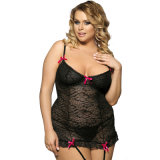 Noir / Rouge / Violet En Stock Soft Lace Plus Size Women Clothing