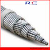 Conducteur en aluminium nu du câble renforcé par acier en aluminium ACSR de conducteur