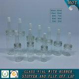 2ml-30ml cancelam o tubo de ensaio do vidro dos cosméticos do petróleo essencial