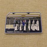 Venda quente nós moeda do cartão do metro de Nypd com esmalte macio