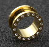 Body Piercing Jewelry Steel Gold Flesh Tunnel Plug