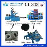 타이어 절단기 기계를 재생하는 폐기물 타이어 절단기 또는 이용된 타이어