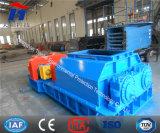 Doppelte Rollen-/Rollen-Zerkleinerungsmaschine für wohlen Gruben-/Lehm-Dampfkessel-Kraftstoff