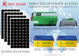 Het Hybride Zonnestelsel van de Uitrusting van het zonnepaneel 2kw met Hybride Omschakelaar