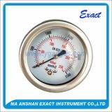Meter van het Staal van de Druk van de capsule de maat-Droge Achter manometer-Roestvrije