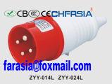 4p IP44 16A de Economische Industriële Stop van de Contactdoos van de Macht met In de schede gestoken Kabel