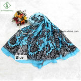 Satin-Silk Spitze-Blumen-Schal-Dame Fashion Silk Scarf