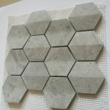 Mattonelle di mosaico di marmo popolari su ordinazione per la decorazione di Wall&Floor