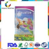 Rectángulo transparente visualizado alta calidad de PVC/Pet/PP con la impresión en color