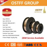 0.8mm X 15kg Plastic Spooldatei Kupfer-Coated Solid MIG Welding Wire (G3Si1/SG2)