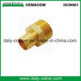 Acoplador apropiado modificado para requisitos particulares de la soldadura de cobre amarillo de Mpt Adpt de la calidad (AV9033)