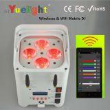 Batterie rechargeable Yuelight 4PCS * 10W 6in1 pour LED PAR Light sans fil et WiFi