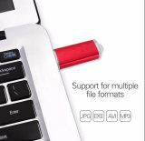 Da vara colorida livre da memória do logotipo do metal movimentação instantânea da pena do USB