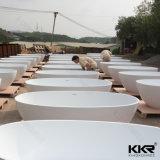 Vasca di bagno di superficie solida di pietra artificiale della mobilia moderna della stanza da bagno