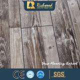 Bois de teck 12.3mm E0 HDF AC4 Plancher laminé en bois chêne V-Grooved Revêtement de sol stratifié