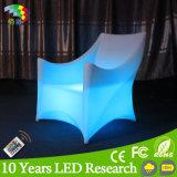 방수 재충전용 LED 정원 의자 LED 옥외 가구