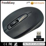Vendita senza fili ottica simmetrica nera del mouse 2.4G di formato medio