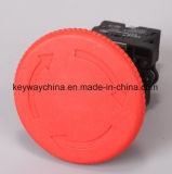 22mm de Schakelaar van de Drukknop van de Paddestoel met het Merk van de Spiebaan